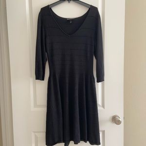Lane Bryant Black Vneck Ribbed Sweater Dress 14/16
